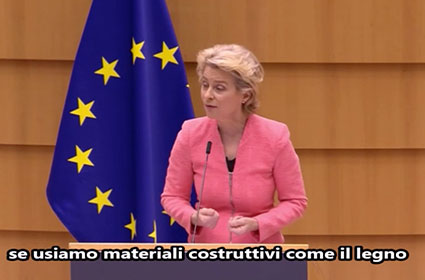 Ursula Von der Leyen – Use wood for the constructions